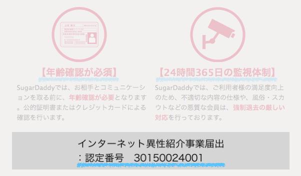 シュガーダディのインターネット異性紹介事業