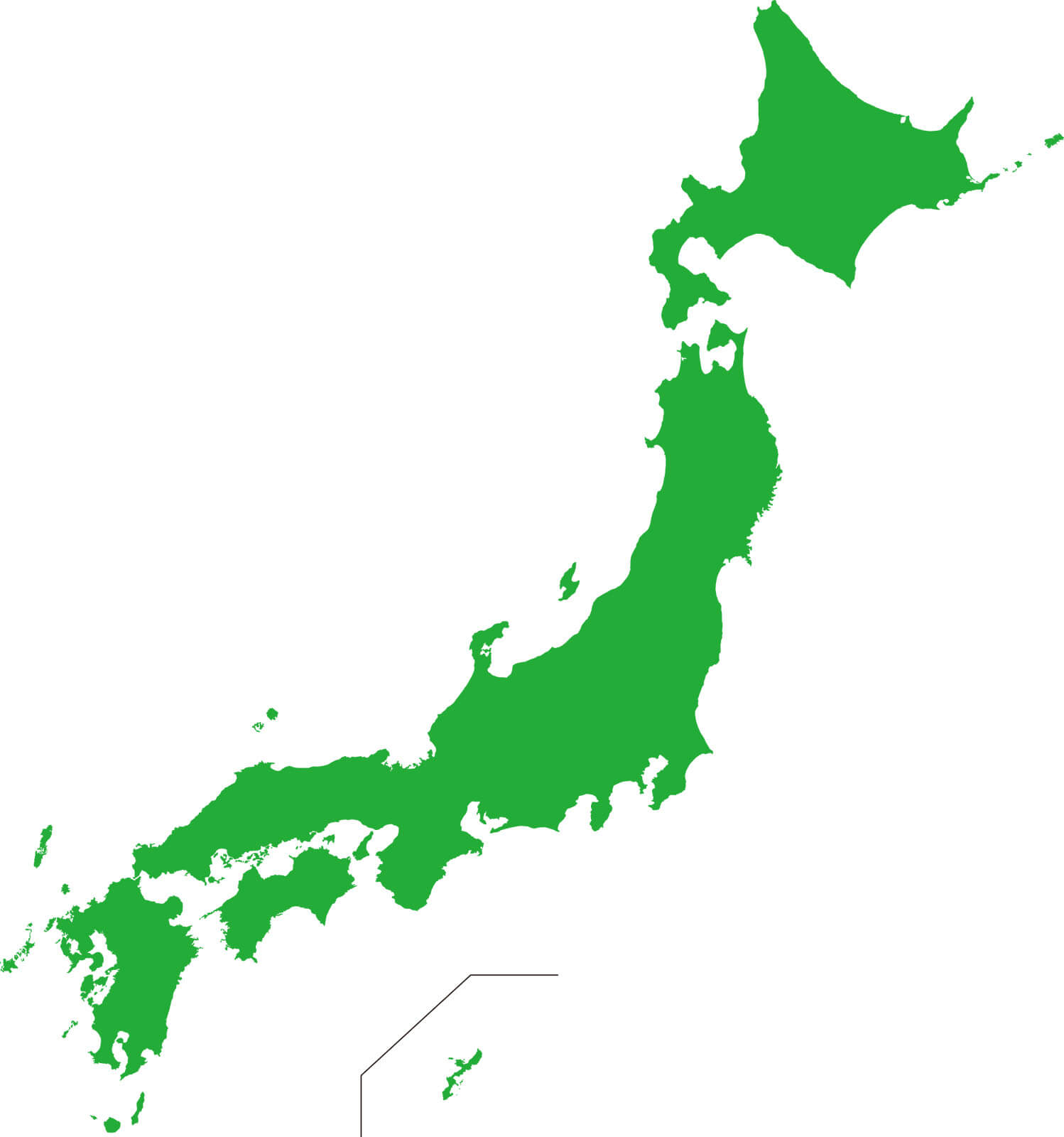 日本全国の地図