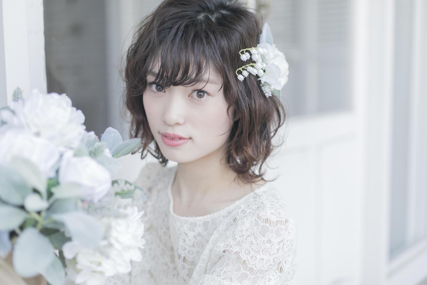 美人な花嫁の例