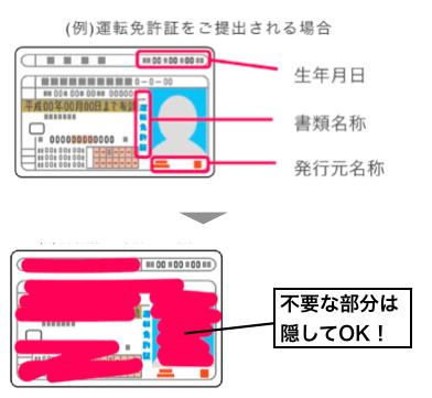 身分証明書の加工例