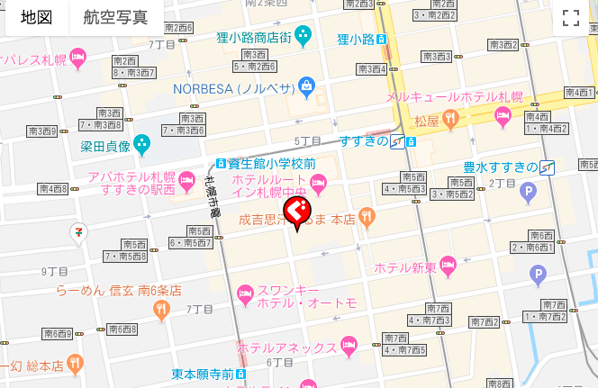 札幌でギャラ飲みに使えるお店「THE SECRET」の所在地